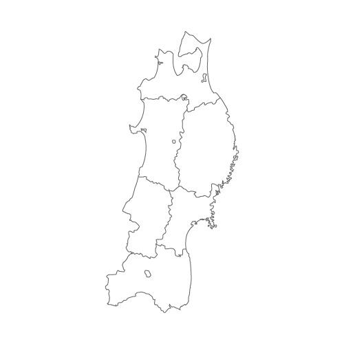 地方 地図 東北