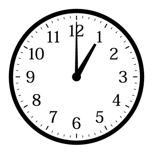 時のイラスト | ただ絵.net : 時計の勉強 : すべての講義
